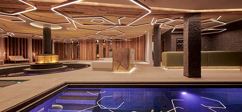 Wellness new-build at the 4-star superior Burg Hotel Oberlech