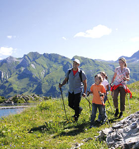 Family holiday in summer in Arlberg
